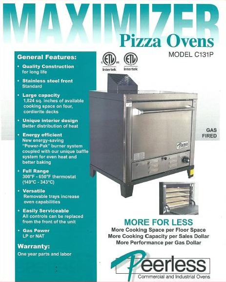 Horno para Pizza Model C131P